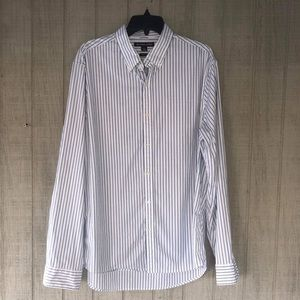 MK Blue Striped Dress Shirt